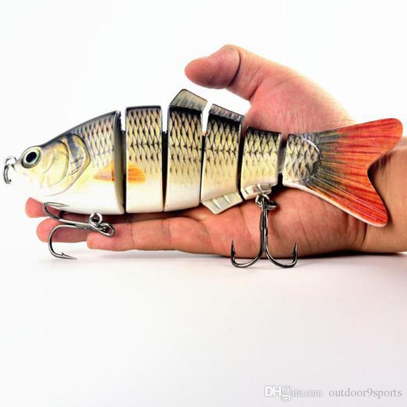 Novo 20 cm Grande 6 Seções Isca De Pesca Isca de Pesca De Água Doce Hard Bait Swimbait Simulação Falso Isca