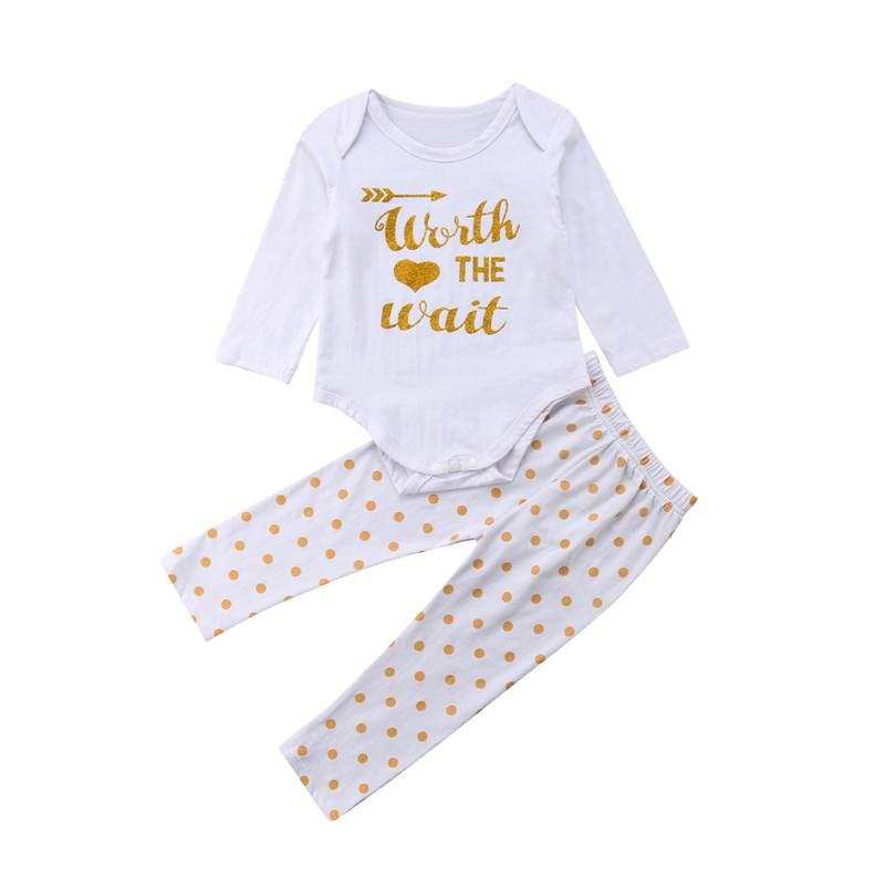 fb29a90111a1 2019 Newborn Baby Boy Girl Outfits Se TLong Sleeve Letter Printed ...