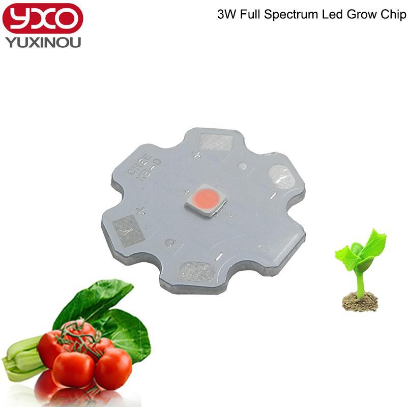 3w High Power Led Lamp Bead Plant Grow Light Bulb Full Spectrum 400 ...