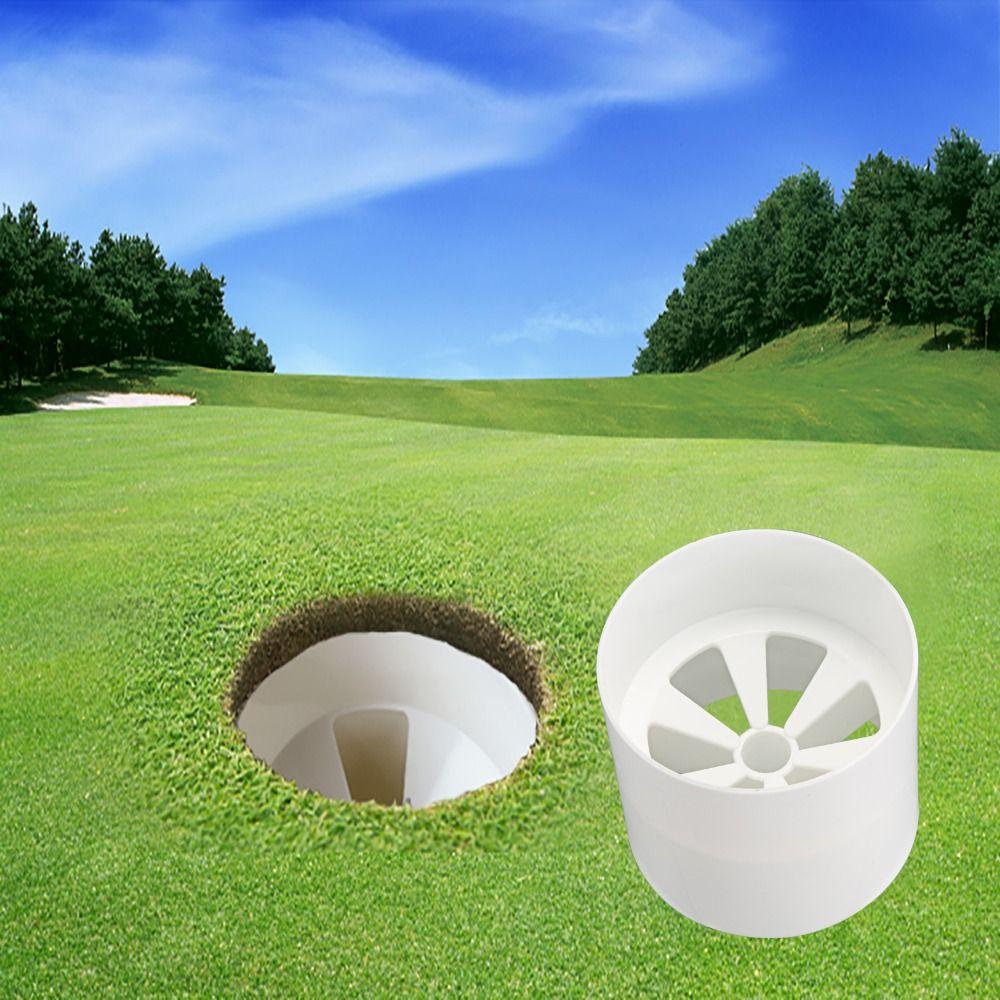 Großhandel Golf Loch Cup Weiß Kunststoff Golf Loch Cup Training Aids