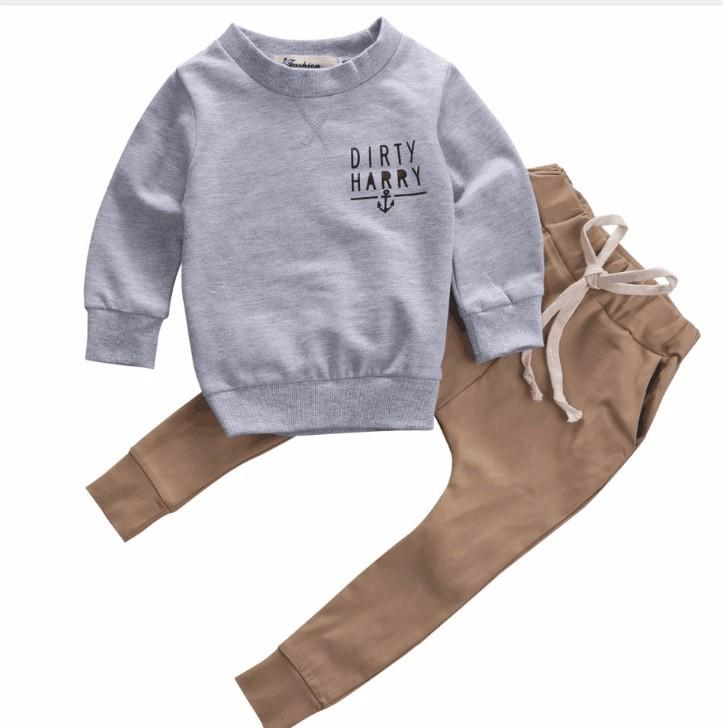 e2cc3247d 2019 Kids Boys Sweater Clothes Sets 2017 Spring Baby Cotton Sweater And  Pants Trend Baby Casual Outfits Coat+Pants From Dejavui, $38.73 | DHgate.Com