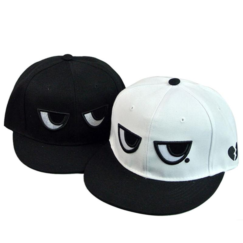 Unique Unisex Adjustable Baseball Cap Snapback Hip Hop Hat Funny Eyes  Design Cotton Flat Cap Boy Girl Cool Sports Sunhat Baseball Hat Hat Store  From Jutie f5f787996c1