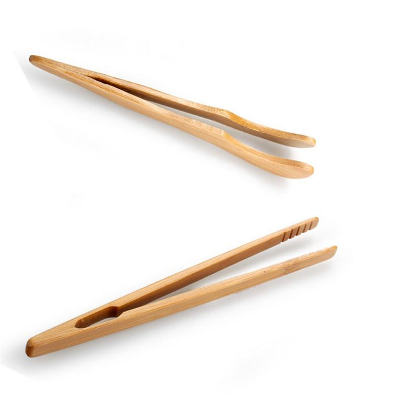 High Quality Handmade Bamboo Tea Clips Tweezers 2 Types Curved Straight Kung Fu Tea Accessories About 18cm 1PC