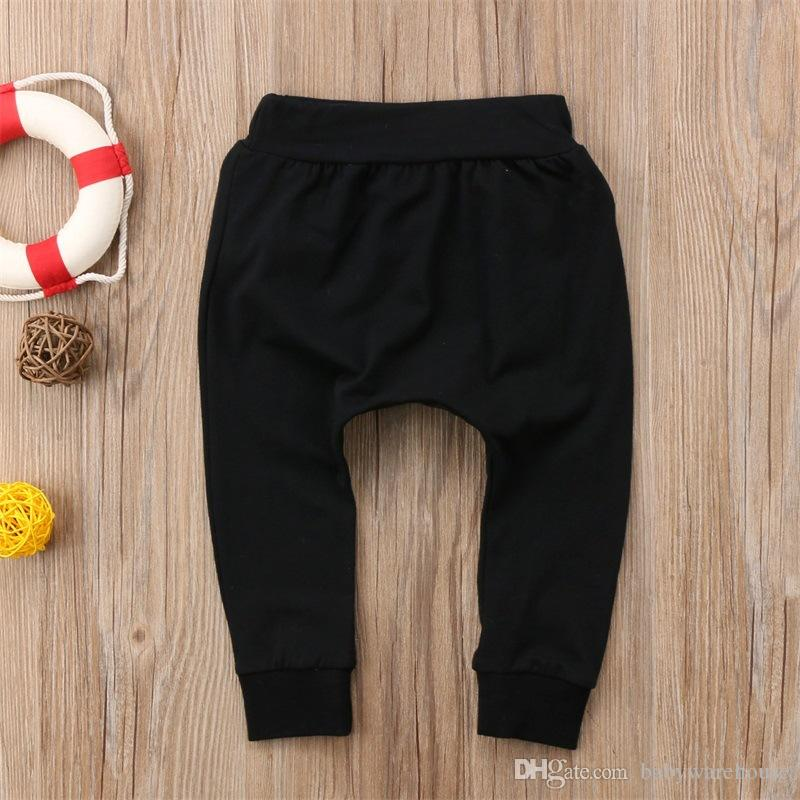 New 2018 Baby Clothes Kids Boys Girls Pants Fashion Letter BOSS Pants Cotton Baby Girls Harem Pants Baby Casual Trousers Boy Girl Clothes