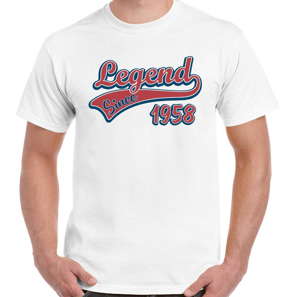 Legend Since 1958 Mens Funny 60th Birthday T Shirt 60 Year Old Shirts Designs Online Shopping From Vectorbomb 1101