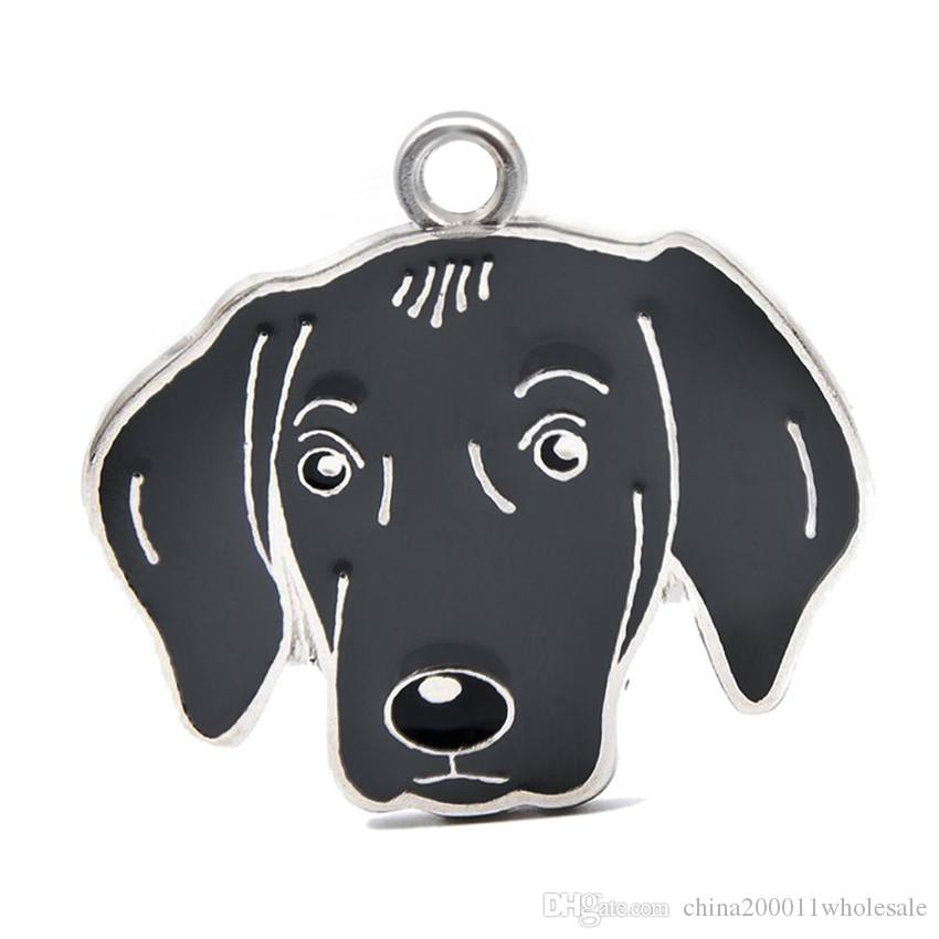 New Arrival Dog Pendant Hang Charms Fit For DIY Key Chain Keyrings Pet Collar Jewelry Making HC465
