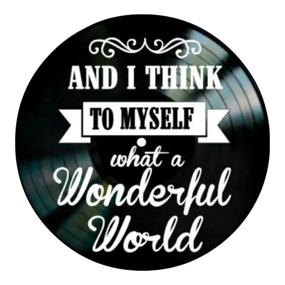 Diy Gift For 2018 What A Wonderful World Song Lyrics On A Vinyl ...