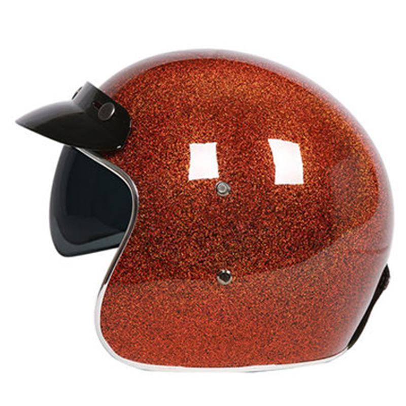 CFR flash painted 3/4 Open face helmet High level Fiberglass shell light weight and comfortable ECE approved moto casco
