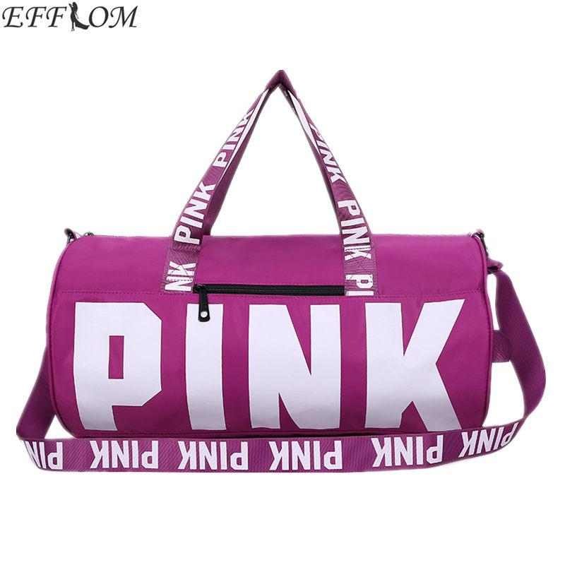 VS Fashion Girl Stripe Duffle Bag Colorful VS Zipper Shoulder Versatile  Sack Summer Holiday Beach Bag Nylon Women Travel Ladies Purses Handbag  Wholesale ... 13b02be9613a8