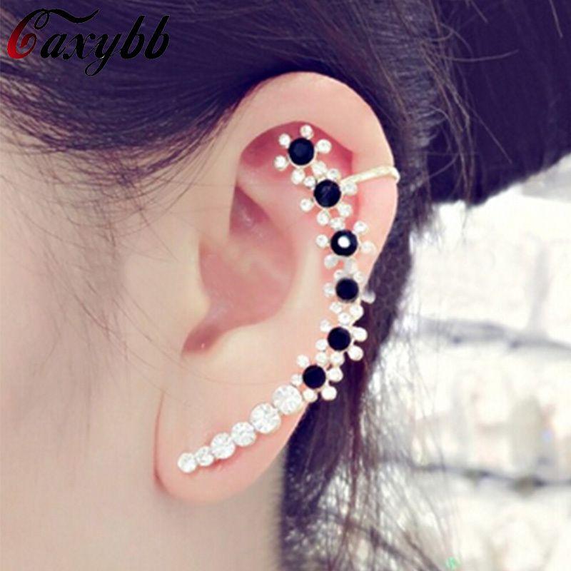 Kore renkli kristal kulak klip küpe takı kişilik takılar kulak manşet küpe kadınlar takı YS-c-c23