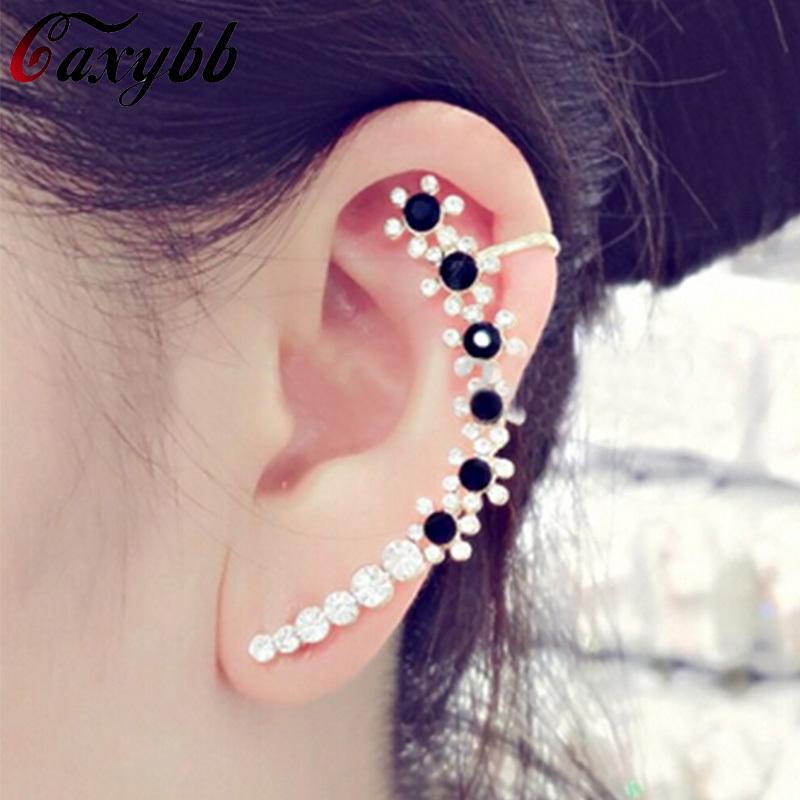 Korean bunten Kristall Ohr Clip Ohrring Schmuck Persönlichkeit Charme Ohr Manschetten Ohrringe für Frauen Schmuck YS-c-c23