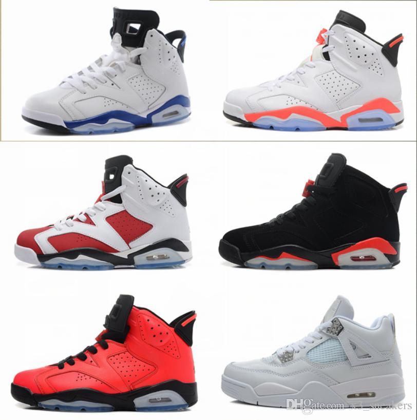 plus récent 0c556 08c19 Nike Air Jordan 1 4 6 11 12 13 Retro Femme Basketball Chaussures de Haute  Qualité Sports Courir Blanc Infrarouge Maroon Espadrilles Olympiques Avec  ...