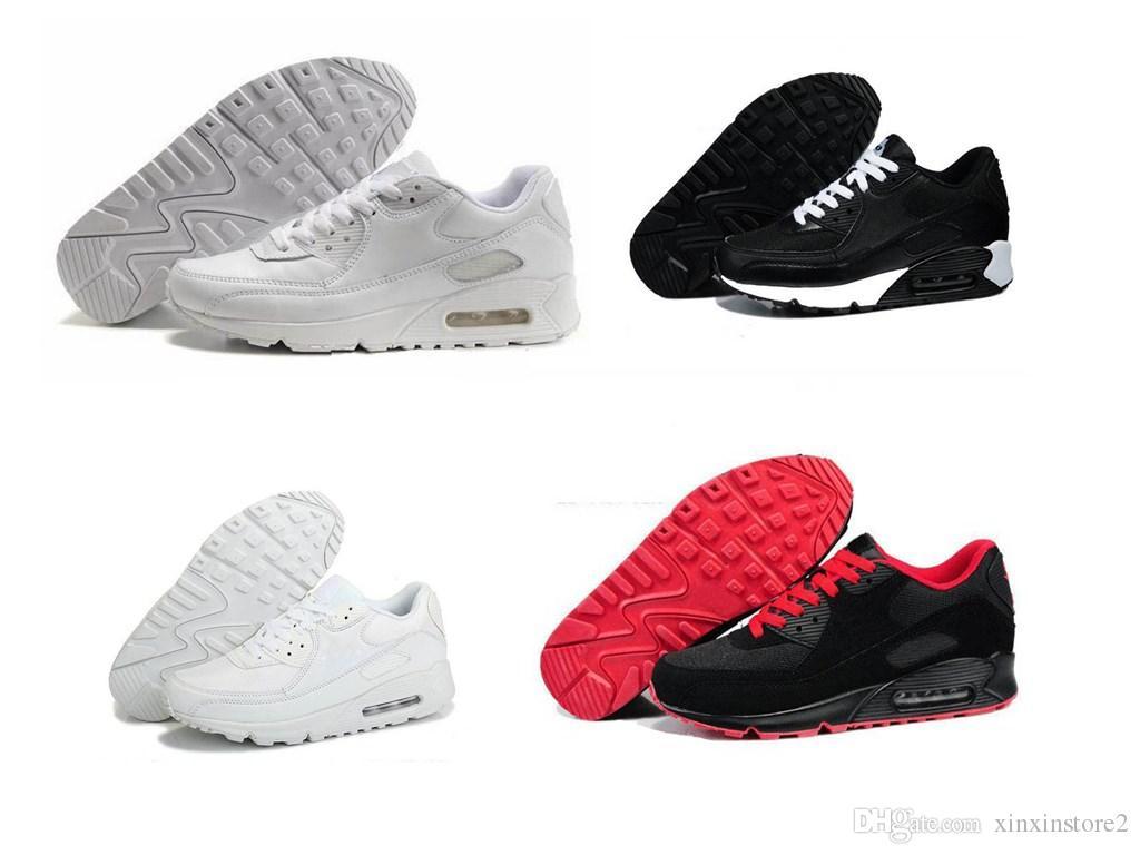 28962b7cf68 Compre Nike Air Max Airmax 90 2018 Novo Barato Homens Sapatilhas Sapatos  Clássicos 90 Homens Tênis De Corrida Por Atacado Transporte Da Gota Sports  Trainer ...