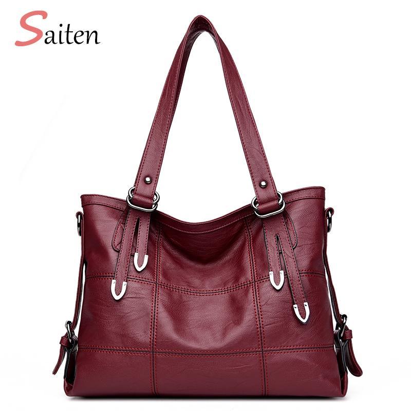 75f7df18fff7 Luxury Plaid Women Handbags PU Leather Women Shoulder Bags Female ...