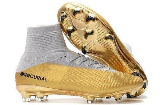 Nuevos 2018 Hombres Mercurial Superfly CR7 FG AG Botas de fútbol Cristiano Ronaldo Botas altas Neymar JR ACC Zapatos de fútbol Magista Obra Botas de fútbol