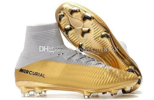 Yeni 2018 Erkekler Mercurial Superfly CR7 FG AG Futbol Çizmeler Cristiano Ronaldo Yüksek Neymar JR ACC Futbol Ayakkabıları Tops Magista Obra Futbol Cleats
