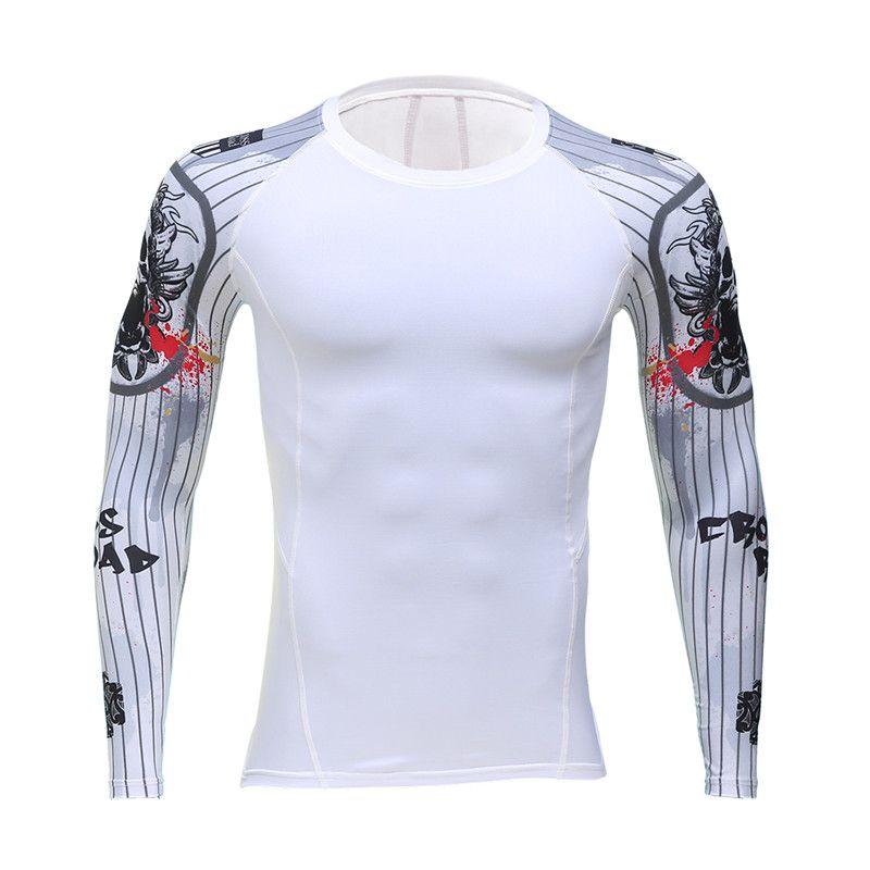 Acheter Fitness Mma Hommes Imprimer 3d T Shirt Hauts Compression Rashguard Homme  Musculation À Manches Longues Noir T Shirt Crossfit Taille S 4xl De  13.27  ... eaad28a6835d