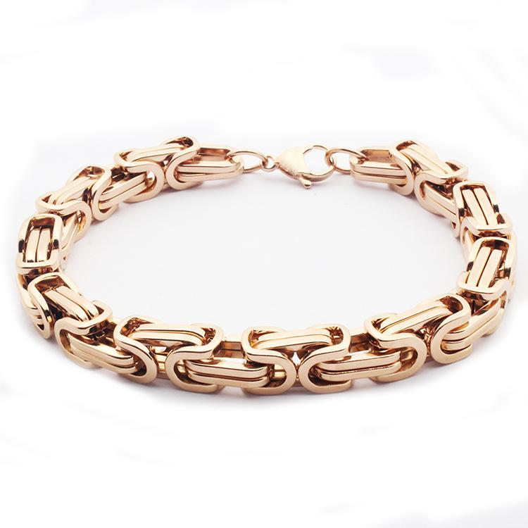 Aktionspreis Valentinstag Geschenke * Männer 316L Edelstahl Armbänder Roségold Armband schwarze Kette goldene Silberketten