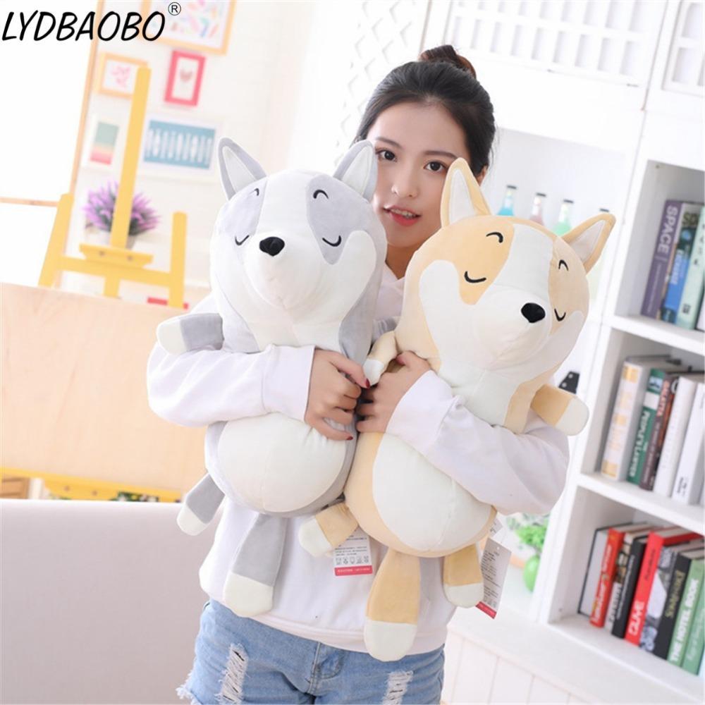 2019 45cm 70cm Giant Kawaii Shiba Inu Dog Stuffed Plush Toy Kids
