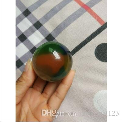 Rare Natural Quartz color Cat Eye Crystal Healing Ball Sphere 50mm Stand