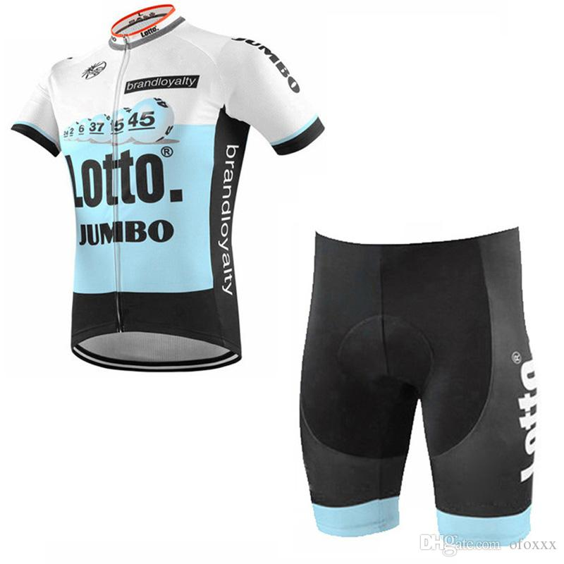 2018 Pro Team Lotto Summer Cycling Short Sleeves Jersey Bib Shorts Sets Breathable  Bike Clothing Breathable Quick Dry Accept Mix Size 2501L Lotto Cycling ... 0578134f9