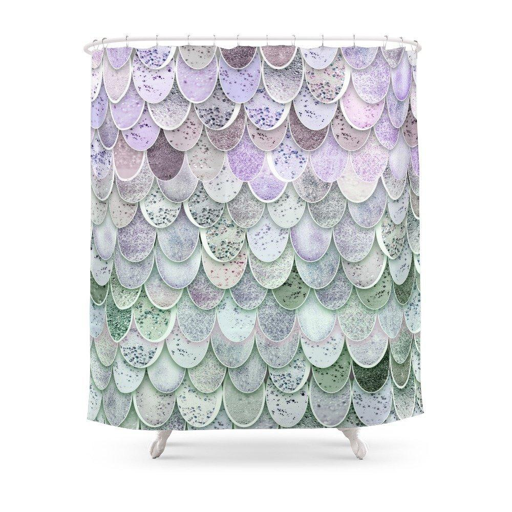 2019 MAGIC MERMAID Shower Curtain Polyester Fabric Bathroom Home Decoration Waterproof Print Curtains With Hooks From Starch 3051