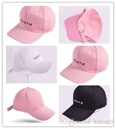 Wholesale Fashion Black Pink White YOUTH Dad Hats For Men Women Baseball  Caps Adjustable Palace Deus Cap Ovo Drake Hat Gorras Planas Hip Hop Newsboy  Cap ... a13b5c443f66