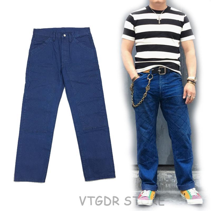 Indigo 12 Pantalon Vintage Selvage Jean Bob Pour HommesCoupe Dong 5oz Droite 80PwOknXN