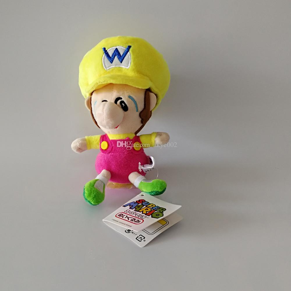 "Hot Sale 6"" 15cm Mario Waluigi Luigi Wario Baby Super Mario Bros Plush Stuffed Doll Toy For Kids Best Holiday Gifts Wholesale"