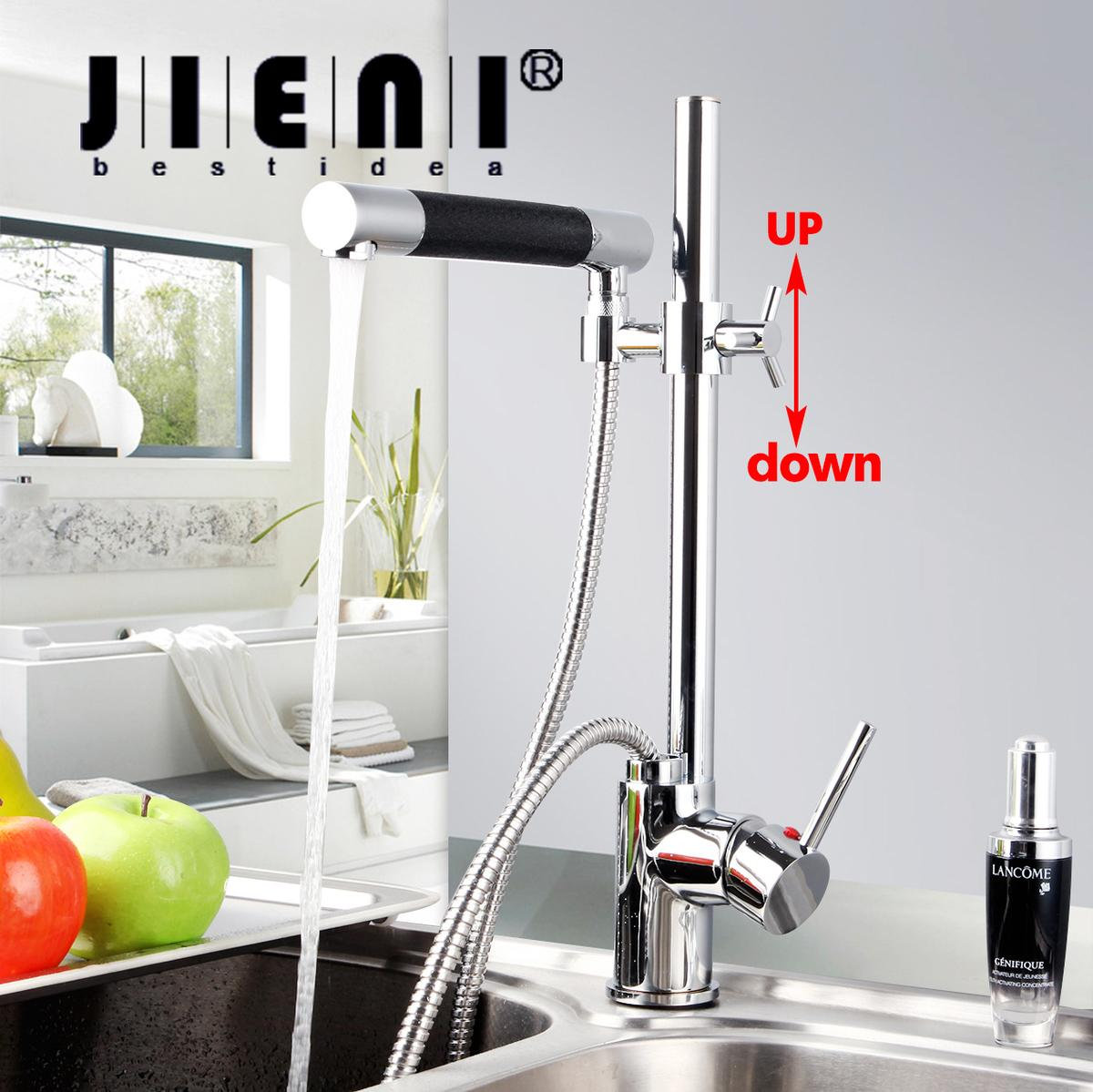 Pull Down Kitchen Faucet Polished Chrome Deck Mount One Hole ...