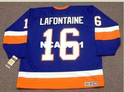 ef1a6b2cb 2019 Men  16 PAT LAFONTAINE New York Islanders 1990 CCM Vintage Home Hockey  Jersey Or Custom Any Name Or Number Retro Jersey From Ncaa001