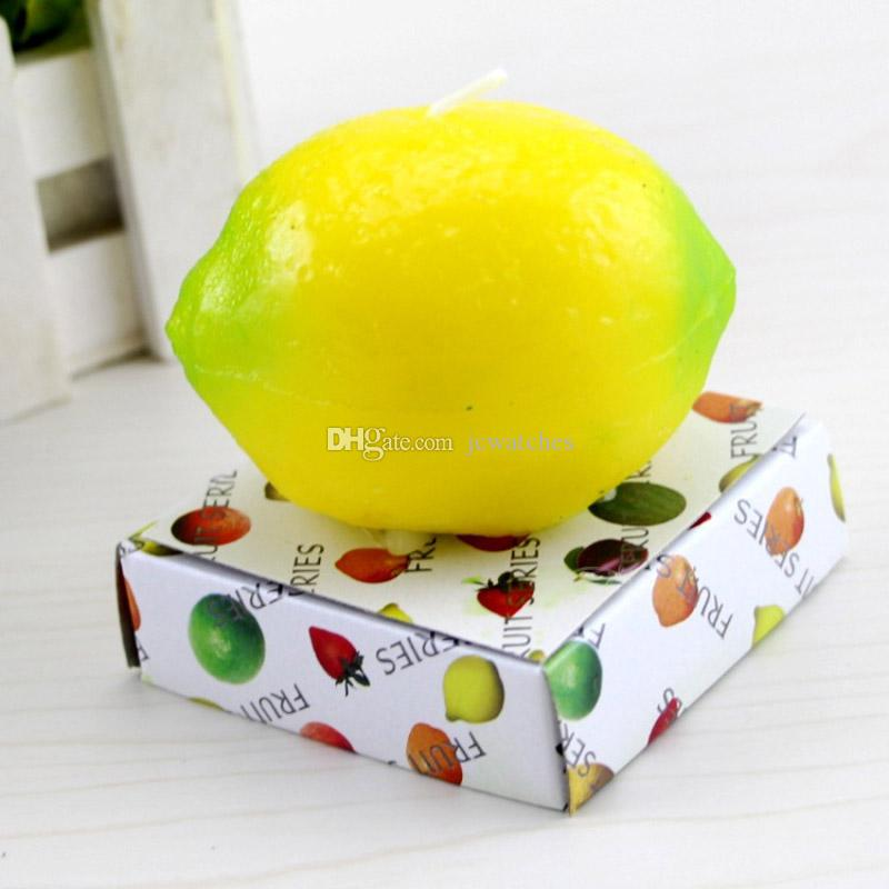 Fruit Candles Apple Orange Lemon Shaped Scented Birthday Weddings Candles Romantic Party Decoration Christmas New Year Gift