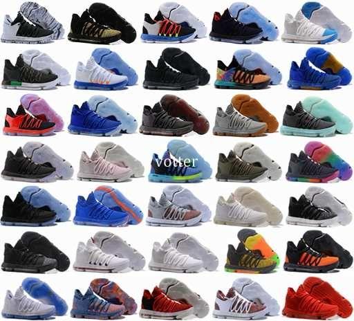b0f0d9f0b0df Zoom KD 10 X Anniversary PE BHM Red Oreo Triple Black Men Basketball Shoes  KD10 Elite Low Kevin Durant Athletic Sport Sneakers 40 46 Shoe Shops Cheap  ...