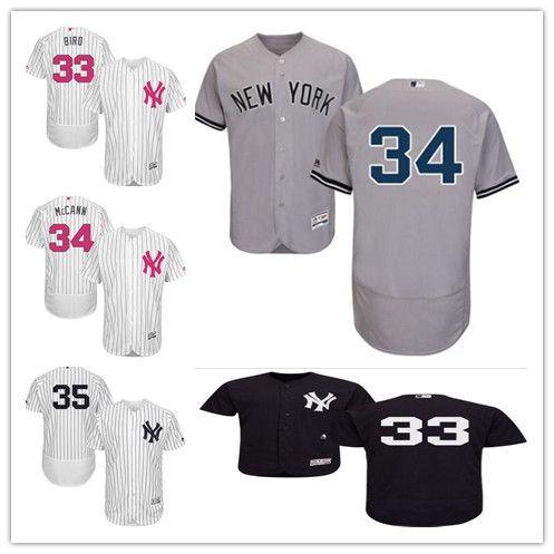 2019 Custom Men Women Youth Yankees Jersey  33 Greg Bird 34 Brian McCann 35  Michael Pineda Home White Gray Navy Blue Kids Girls Baseball Jerseys From  ... 26853eea4b5