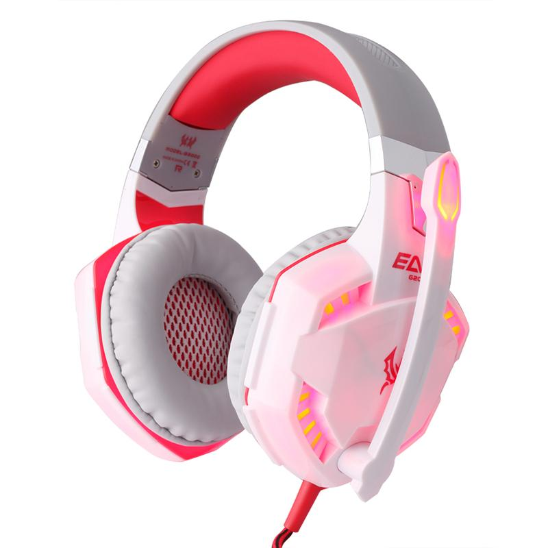 9b6f4b432e9 Stereo Gaming Headset Surround Sound Over Ear Headphones With Noise  Cancelling Mic LED Light Volume Control For Laptop PC Xbox One PS4 Games  Headphone ...