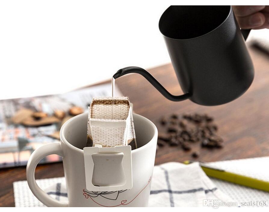 350 мл кофе чай чайник горшок из нержавеющей стали гусиная шея залить кофеварка висит ухо капельного кофе длинный носик чайник чайник HH7-404