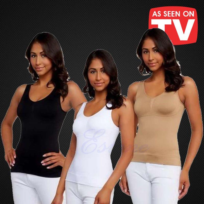 10bd42b5d8 2019 CIVS 035 Women Body Shaper Plus Size Bra Cami Tank Top Slimming Vest  Corset Shapewear Slim Up Lift From Gloriana