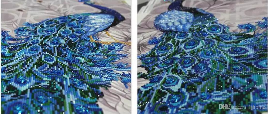 2018 neue spezielle geformte Diamant Stickerei Tier Pfau 5D Diamant Malerei Kreuzstich 3D Diamant Mosaik Dekoration Perle DIY