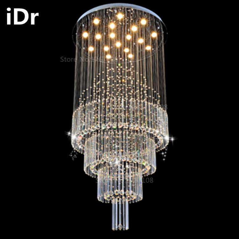 Duplex Living Room Lights Crystal Lampscircular Hall Villa Hotel Project Lighting  Stairwell Long Chandelier Idr 0015 Brass Chandelier Gold Chandelier From ...