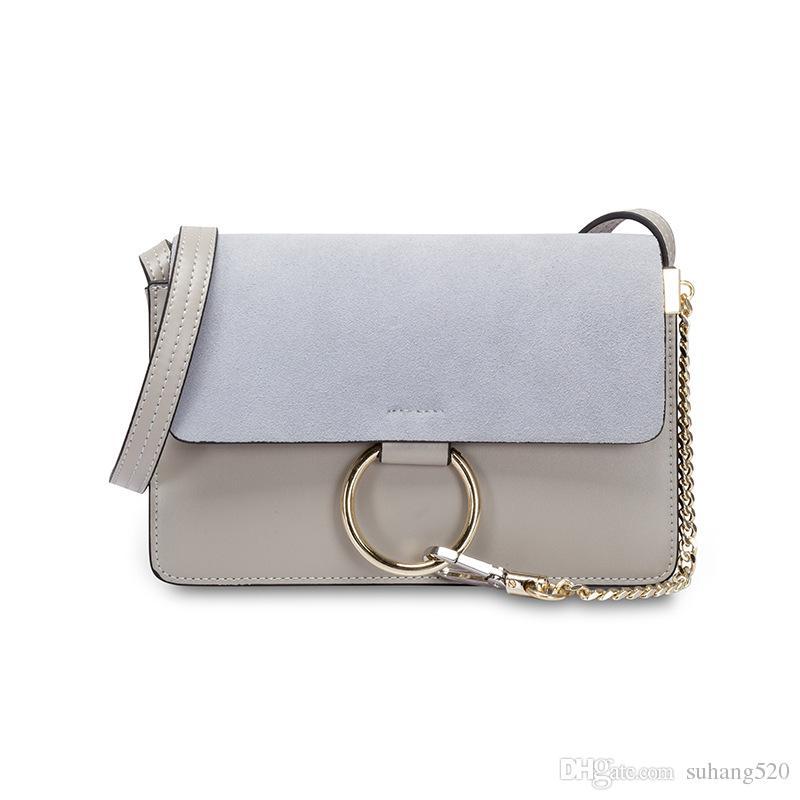 Frosted Shoulder Messenger Bag Casual Fashion Pure Color Pu Leather ... d31ff0d19c3d5