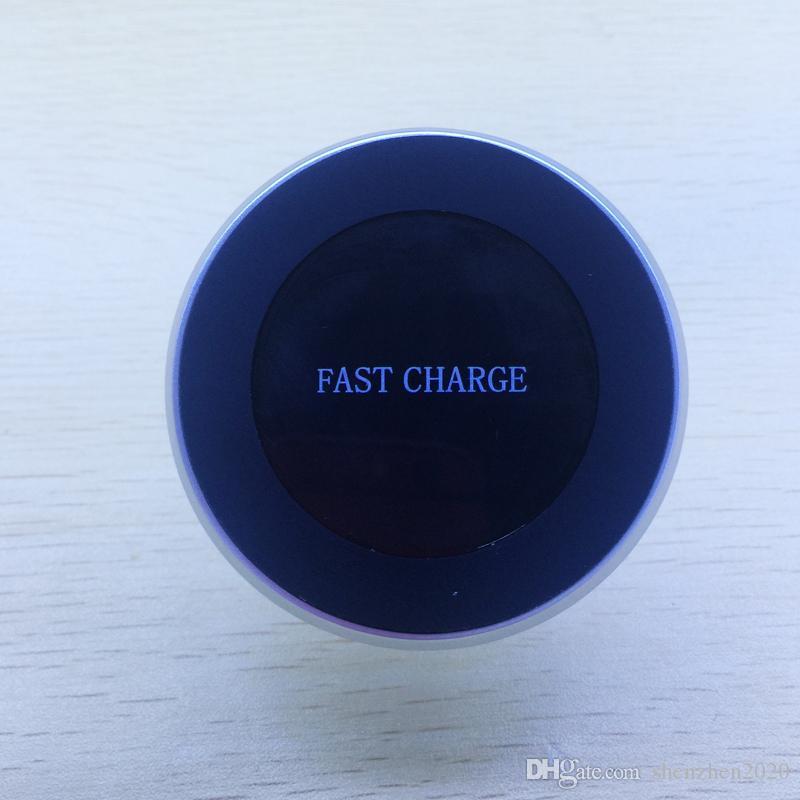 Wireless Car Charger Halter 360 Grad-umdrehung Auto Halter Qi Drahtlose Schnellladegerät Pad für iphone X 7 8 plus Samsung S8 Plus 2017 2018