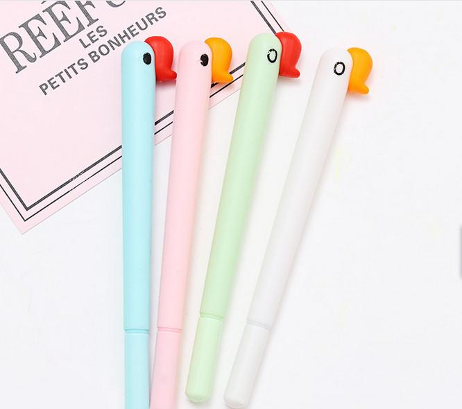 Best selling gel pen wholesale100pcs\Lot free shipping creative swan head neutral pen bird office writing pen school stationery262