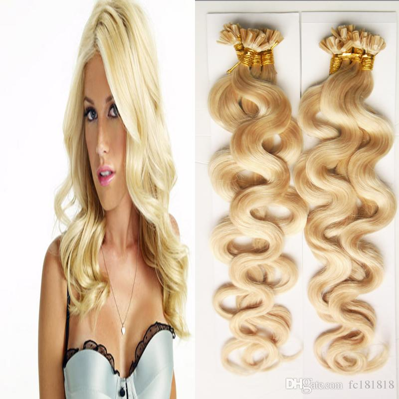 U Tip Hair Extensions 1g Strand 200g Strands Remy Human Hair Pre