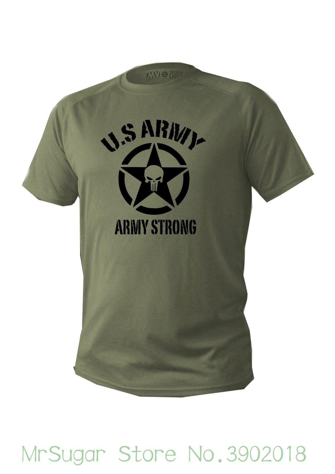 pretty nice 633ab cb9f1 T-Shirt Herren Dry Fit Kurzarm Grün Olive Us Army Militär Männer Tactical  Usa Einfach Kurzarm Baumwolle T-Shirt