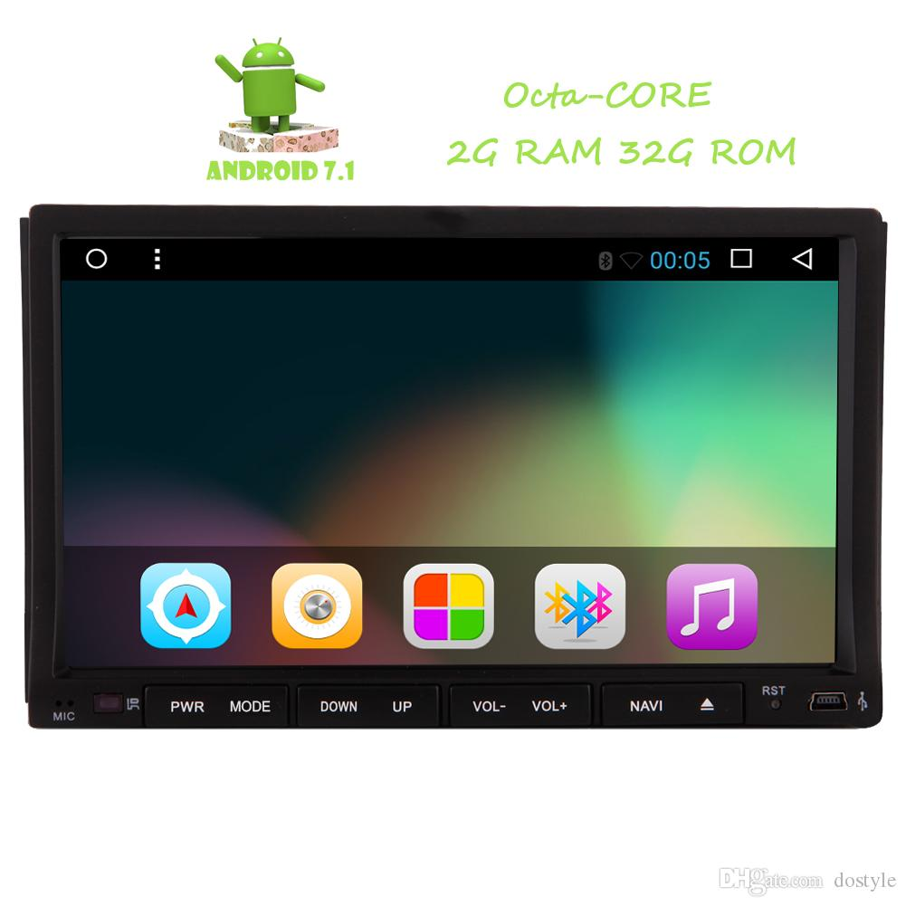 d222d2e82 Reverse Camera+2 din Double din Android 7.1 Car DVD Player GPS Navigator  Autoradio Octa-core Car Radio Stereo in Dash Touchscreen Headunit