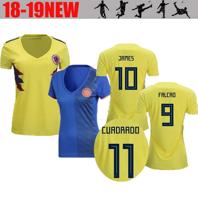 6aadeb210c5 2019 1819 Best Quality World Cup Columbia Falcao Women S Football Jersey  2018 James Rodriguez Women S Football Short Sleeved Sportswear From ...