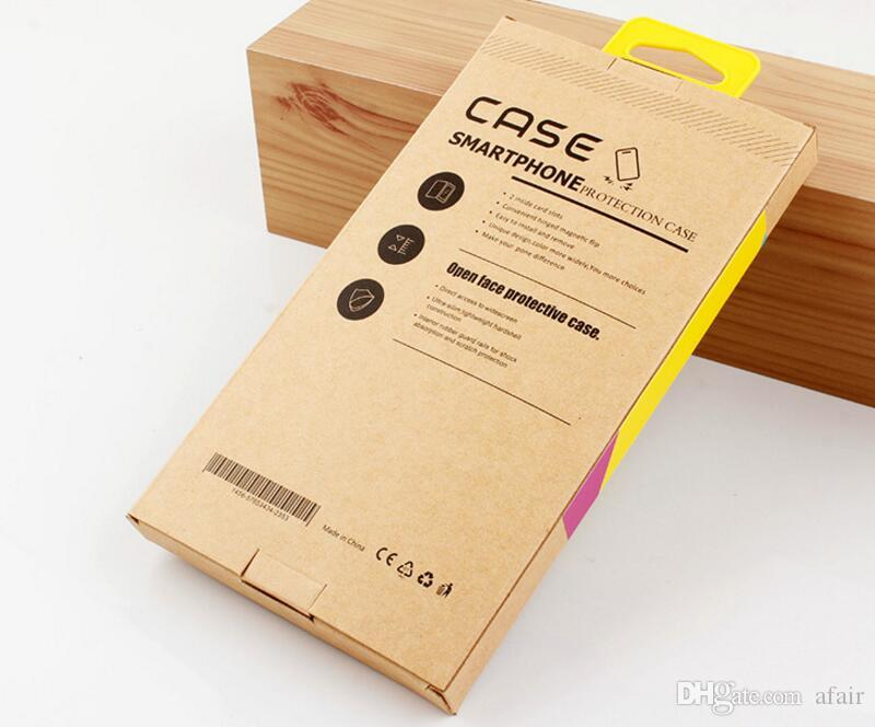 Universal PVC kraft Brown Paper Retail Package box Packaging Boxes For Mobile Phone Case iphone 11 Pro Max XS XR X 7 8 6 6S plus