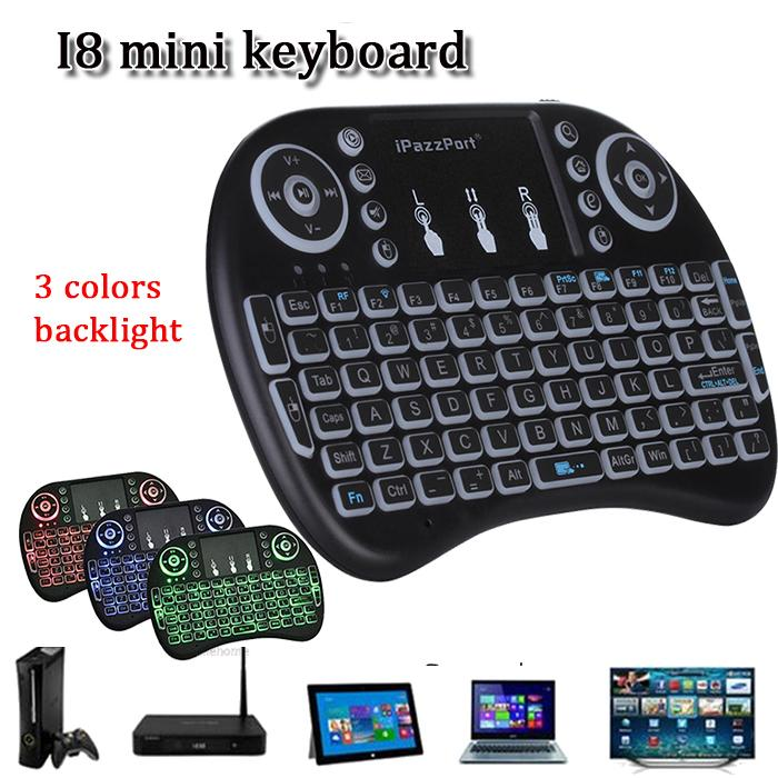 2760f988a71 Rii I8 Mini Bluetooth Keyboard 2.4g Touchpad Rechargeable Lithium Battery  Wireless Fly Air Mouse Remote Control Backlight Keyboard With Stand Keyboard  With ...