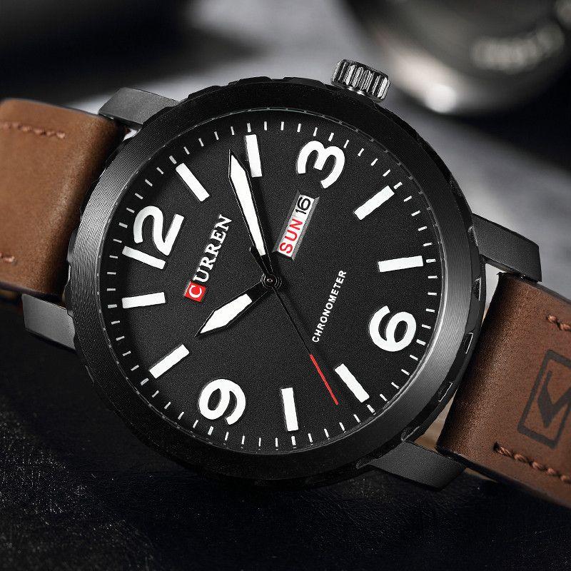 aeece8d0500 Curren Watches Men Brand Luxury Quartz Watch Men s Fashion Casual Sport  Wristwatches With Calendar Male Clock Relogio Masculino Cheapest Watches  Watches ...