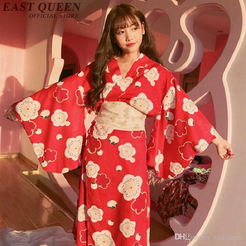 2019 new autumn japanese kimono dress female japanese kimono
